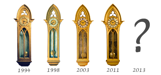 Design evolution of the Gothic Case clock