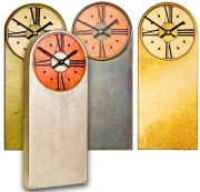 Mantle Clocks with Round Tops & Dials
