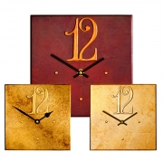 Square Clocks with Large Arab12 Dial