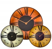 Round Clocks with Etched Dials