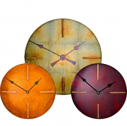 Round Clocks with Four Bar Dials