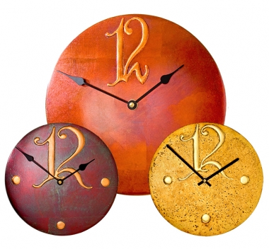 Round Clocks with large Arab 12