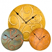 Round Clocks with Raised Arab Numerals