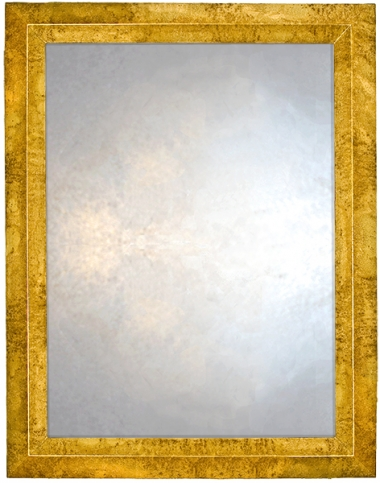 Triangular Profile Mirror in speckled gold