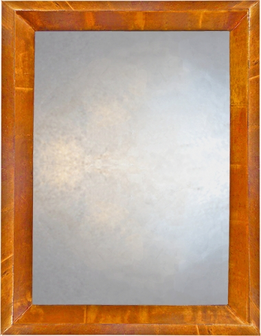 Triangular Profile Mirror in Light Copper