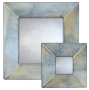 Metallic Blue Swept Mirror