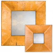 Pastel Copper Swept Mirror