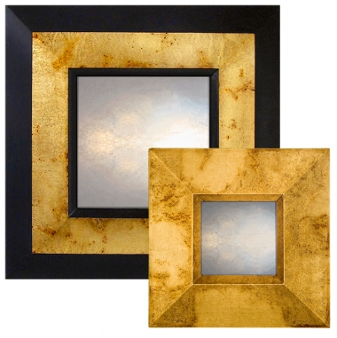 Speckled Gold Reverse Mirror