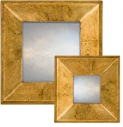 Speckled Gold Raked Profile Mirror