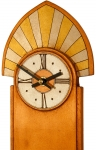 Deco Crested Wall Clock