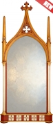 Gothic Ogee Arched Overmantle