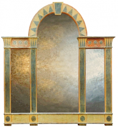 Romanesque Triptych Overmantel