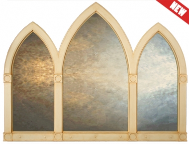 Arched Triptych Mirror