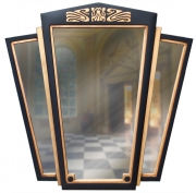 Art Deco Triptych Mirror