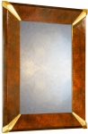 Fluted Corner Art Deco Wall Mirrors