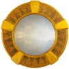 Round Art Deco Key Stone Mirror