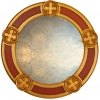 Pugin Gothic Round Mirror