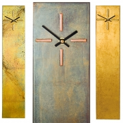 Rectangular Wall Clock with Four Bar Dial