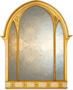 Large Gothic Overmantle Mirror