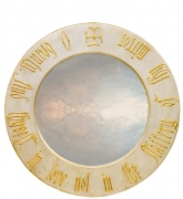 Round Gothic Mirror with Beauty Script
