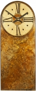 Rusty Brown Marble Mantel Clock with Round Dial