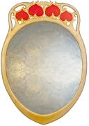 Oval Liberty Art Deco Mirror