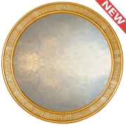 Round Gothic Mirror with Lady of Shalott Script