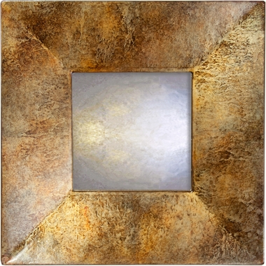 Rusty Brown Marble Swept Mirror