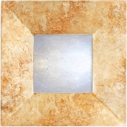 Marble Silver Swept Mirror