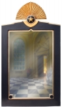 Crested Art Deco Wall Mirror
