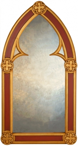 Pugin Gothic Arched Mirror