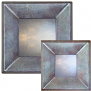 Metallic Blue Raked Mirrors