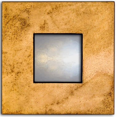 Flat Profile Mirror -speckled gold