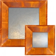 Light Copper Raked Mirrors