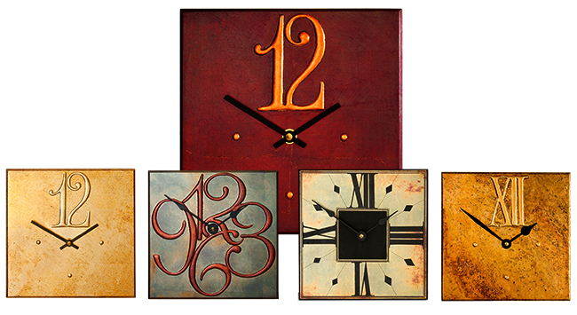 Contemporary Square Clock Collection