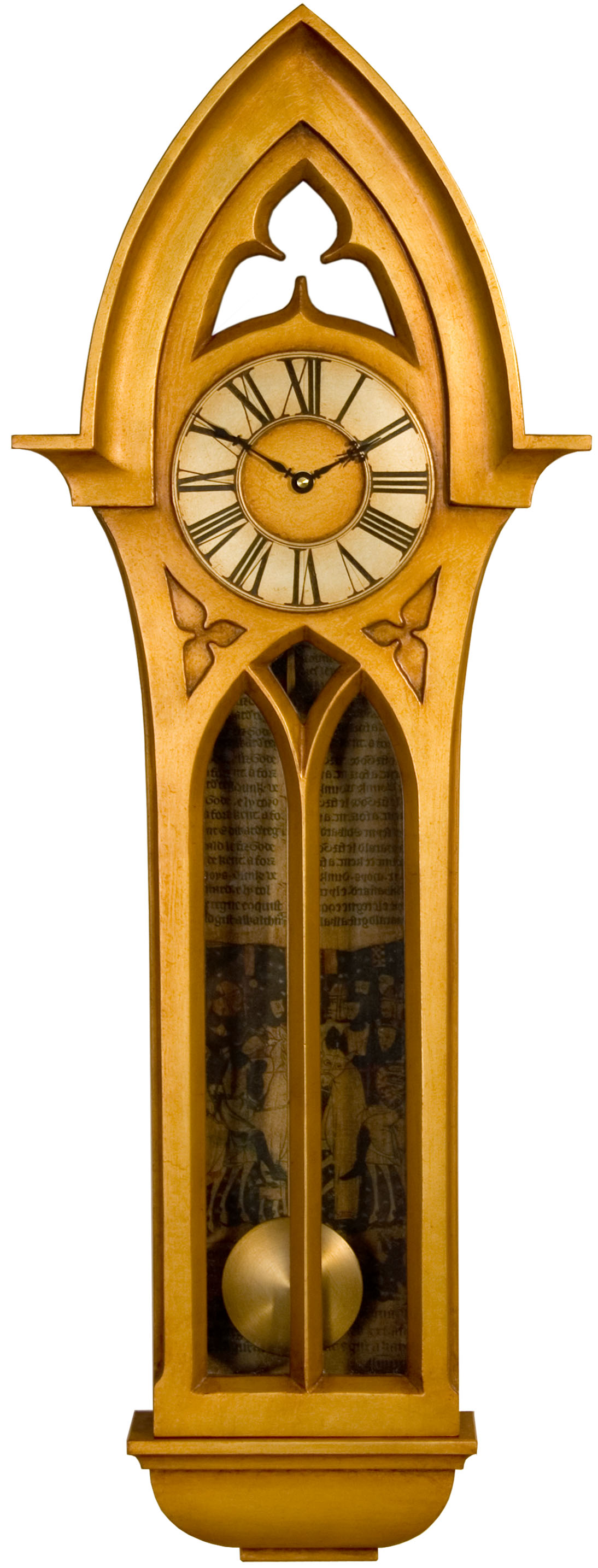 Gothic Case Clock Pendulum Clock Large Decorative Wall