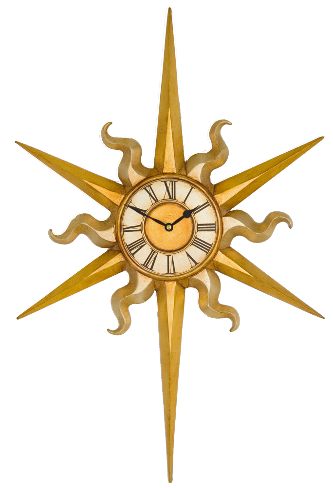Large Sun Wall Clock Large Sun Decorative Clock