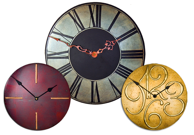 Round Contemporary Clock Collection